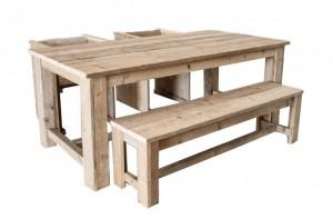Steigerhouten meubelen voor dakterras