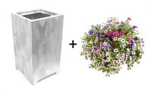 bloembak verzinkt staal