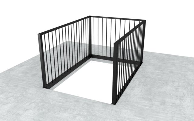 balustrade trapgat