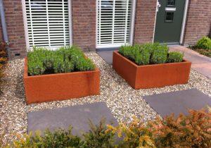 Cortenstalen plantenbak zonder bodem